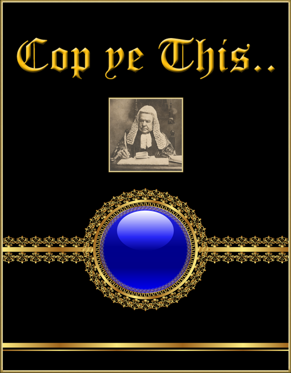 heading text 'cop ye this..', with image of judge, blue button with link to divisions page